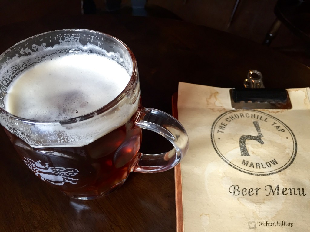 A quick drink at the Churchill Tap craft beer bar, Marlow, Bucks – review