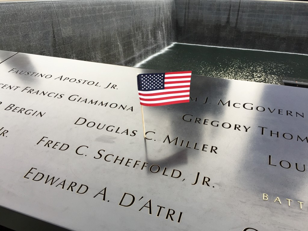 US-flag-911-memorial-south tower