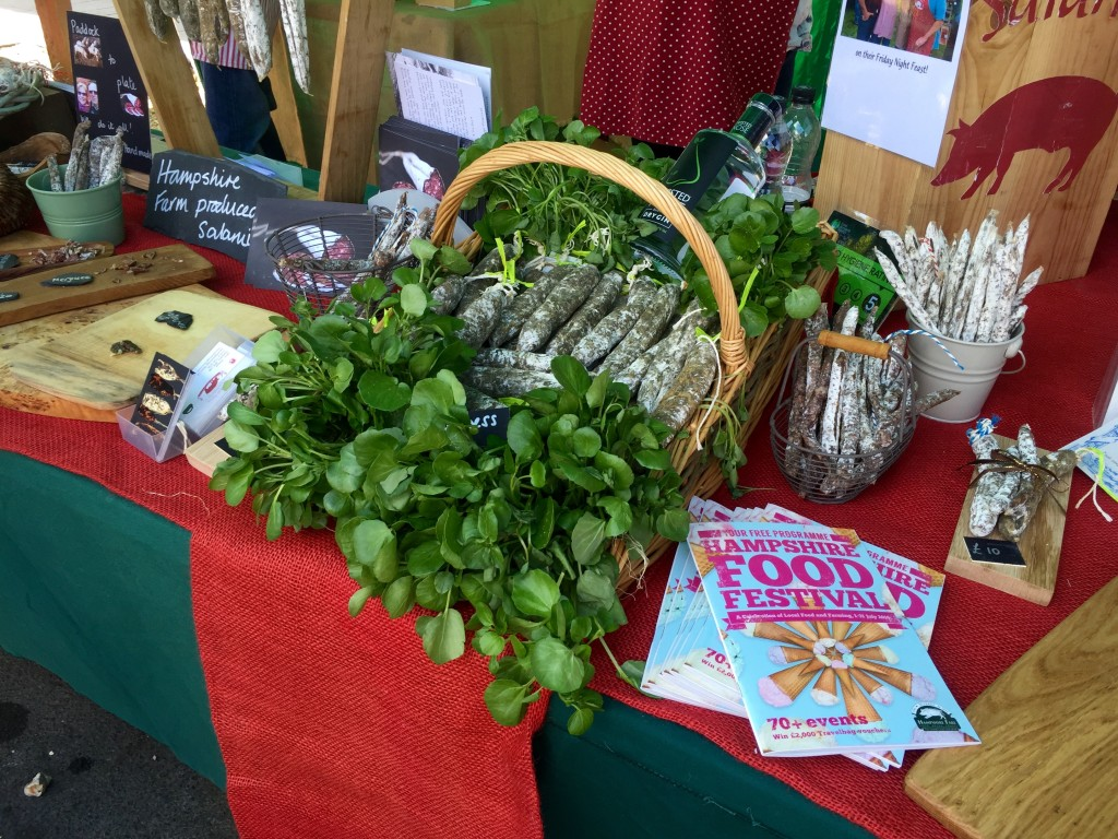 Munching – and quaffing – watercress at the 12th annual Watercress Festival, Alresford