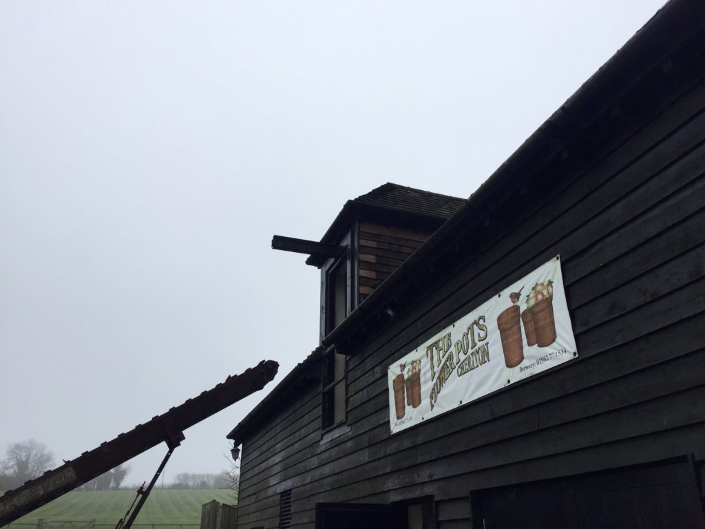 Some larger breweries have their own malthouse where they turn the grain \u2013 usually barley \u2013 into malt suitable for brewing. Flower Pots buys its grain ... & Behind the Scenes at the Flower Pots Brewery Cheriton