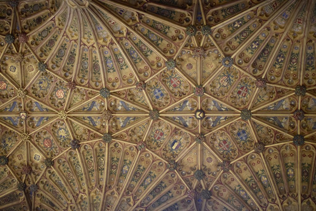 Sherborne Abbey choir ceiling